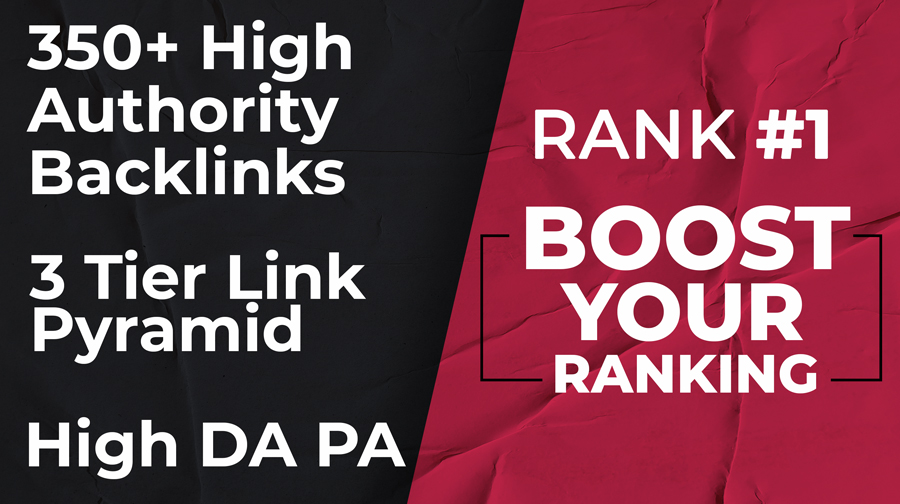 Rank on Top With 350+ High DA/PA 3 Tier Links