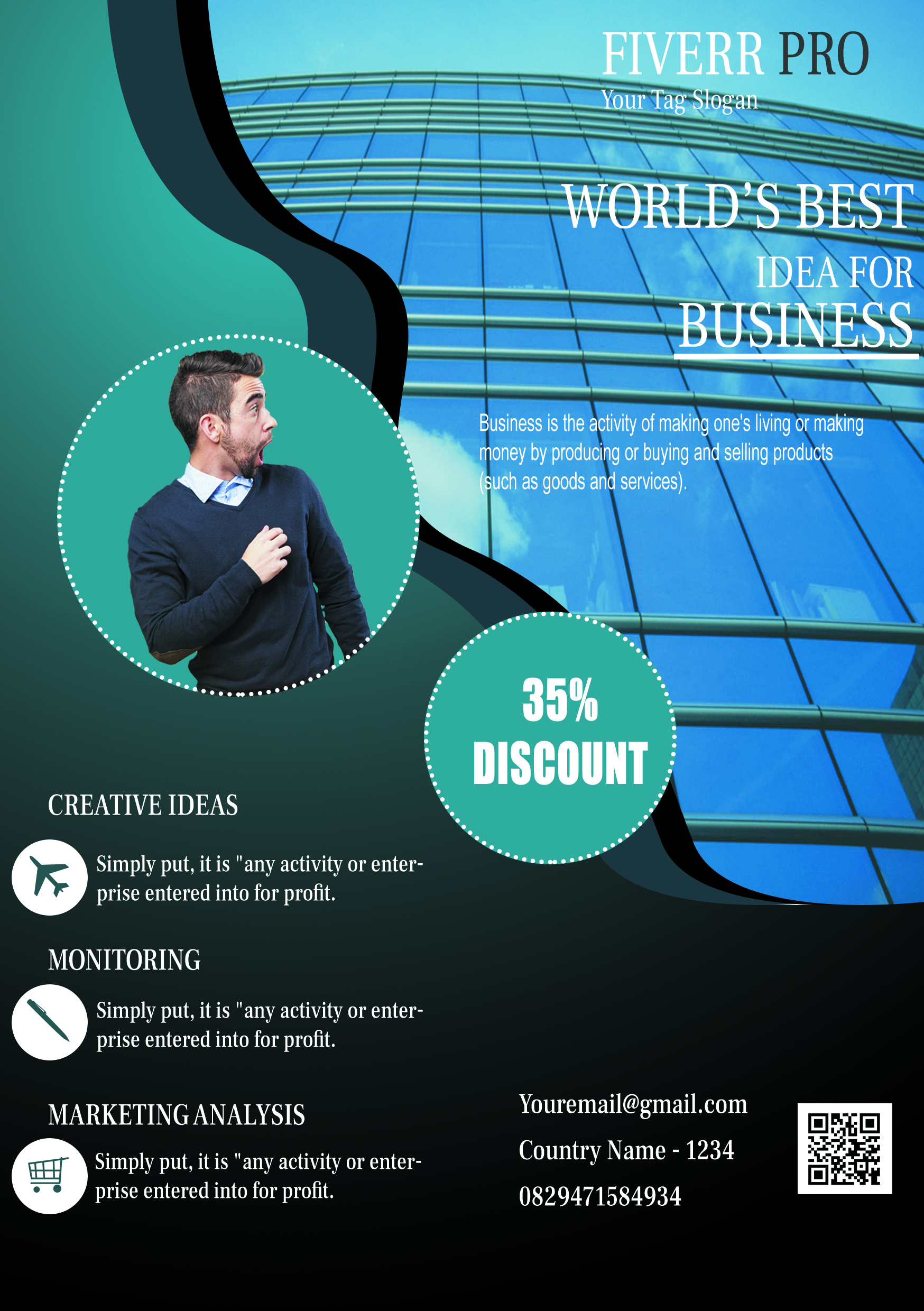 I will create an explainer flyer & brosur for your business