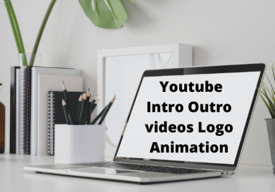 I will make stunning intro outro youtube video logo animation in 24