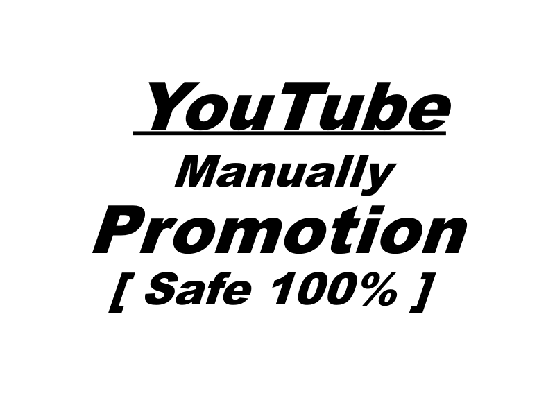 Manually give you stable YouTube Promotion