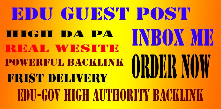 20 Edu-Gov High SEO Authority Backlink and high DA PA Website