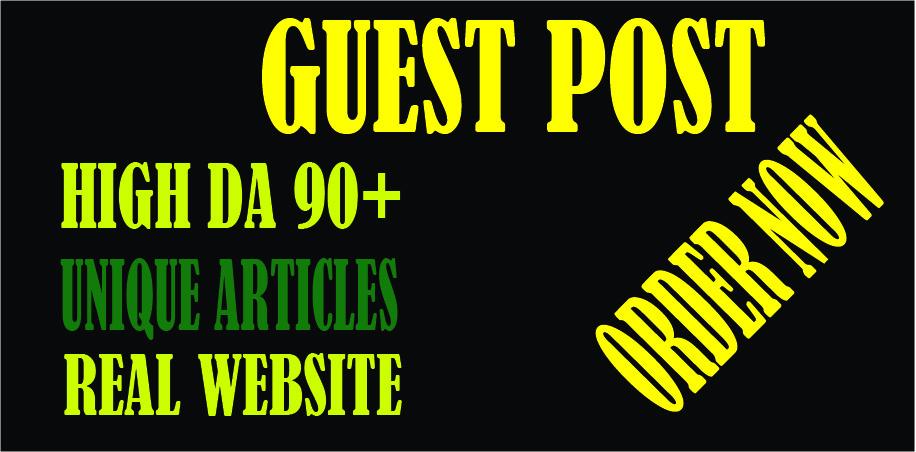 Publish DA 90+ high quality guest post.
