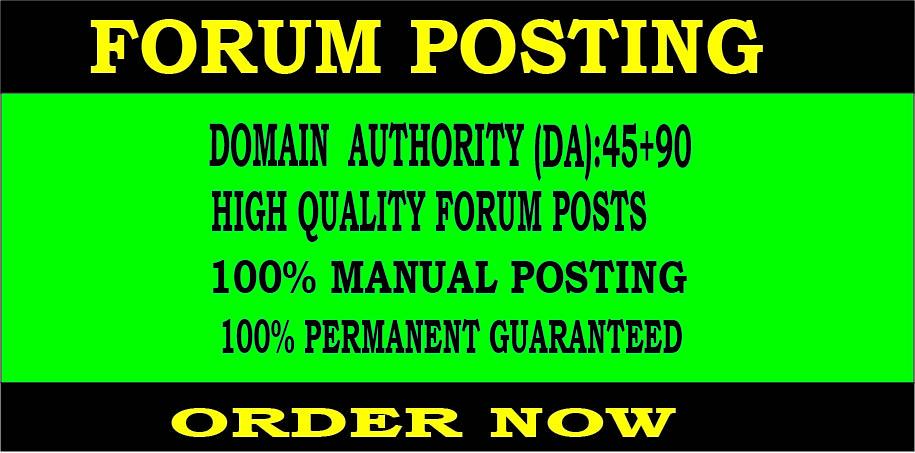 30 Forum posting back-link and high DA 45+