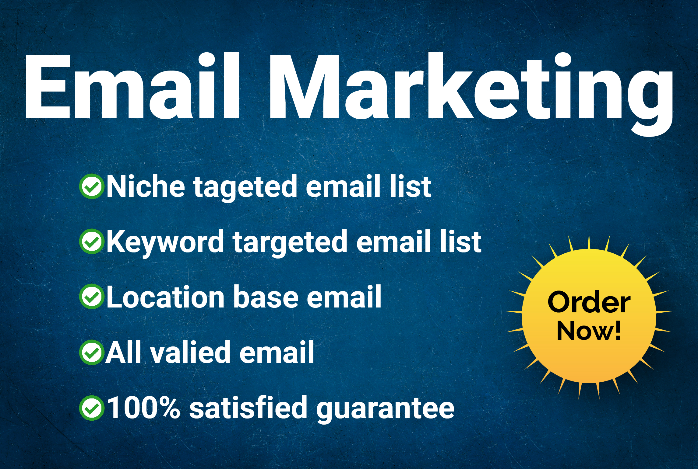I will provide 5k niche target email list