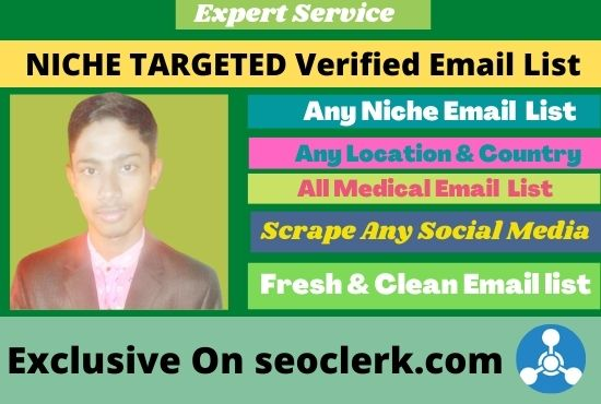 I will do collect your 1k niche targeted active & verified email list