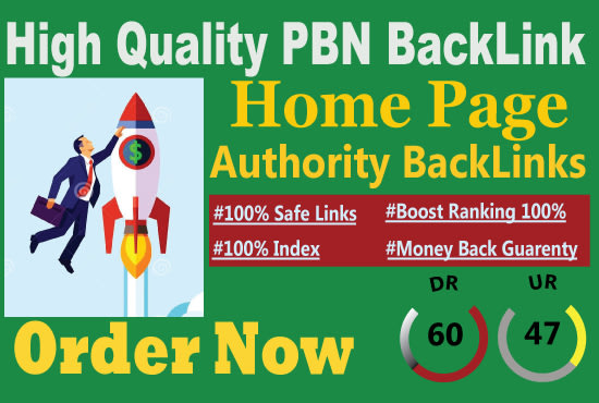 I will do 30 DR 50 to 60 homepage seo backlinks manually permanent