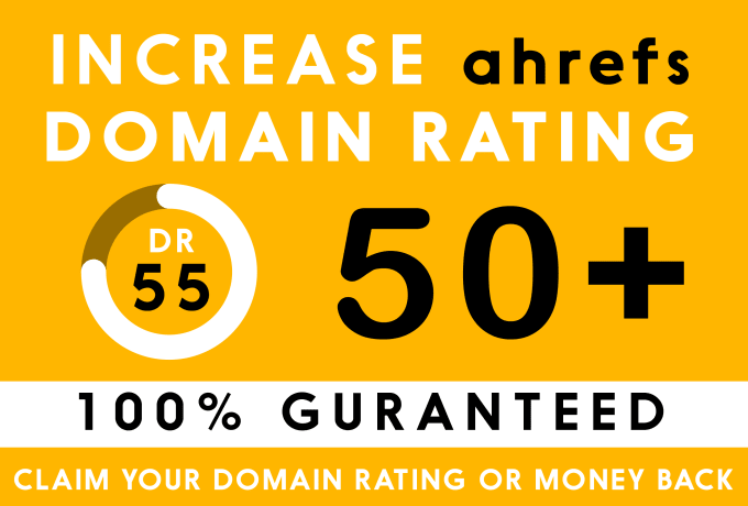 I'll increase Domain Rating DR from 0 to 50 plus