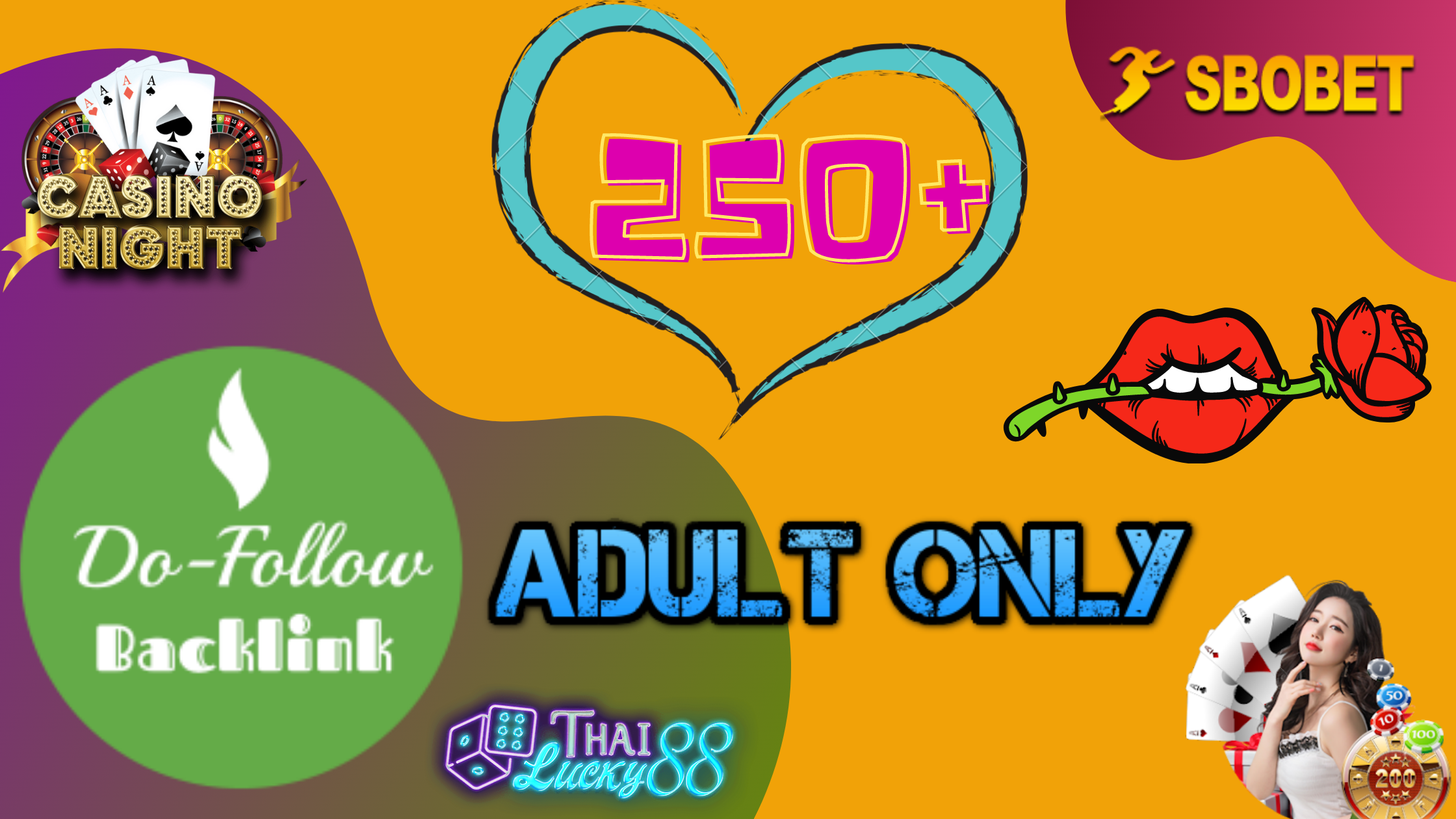 Latest New year Updated 250+ Dofollow Adult Backlink,  Gambling Backlink,  Poker for your site