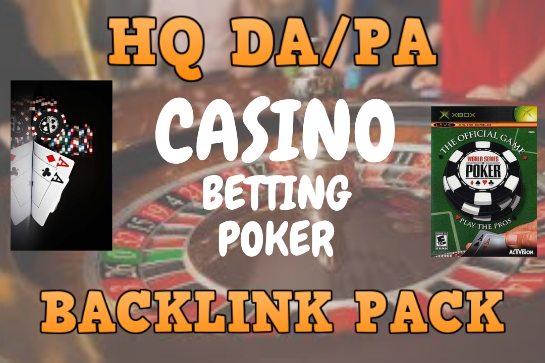 Vast Traffic by 350+ HQ da/pa CAsino, poker, betting & judi MPo SEO backlinks package