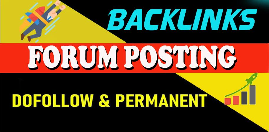 I will Provide Manually 50 HQ DofoIIow Forum Posting Backlink