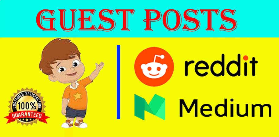 Write and Publish 2 Guest Post On Reddit and Medium