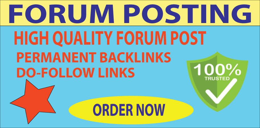 20 Forum Posting Backlinks On High Authority Website.