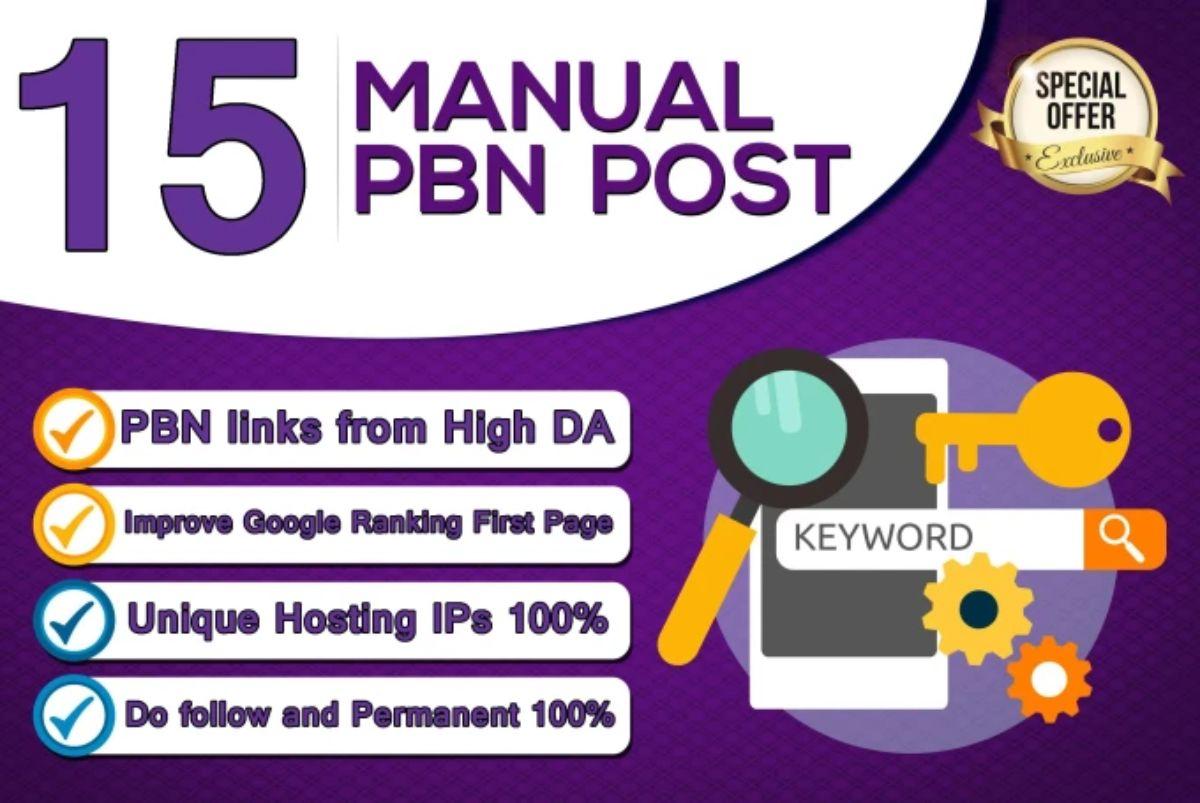 i will build 15 hompage pbn da20 plus on aged domain dofollow links