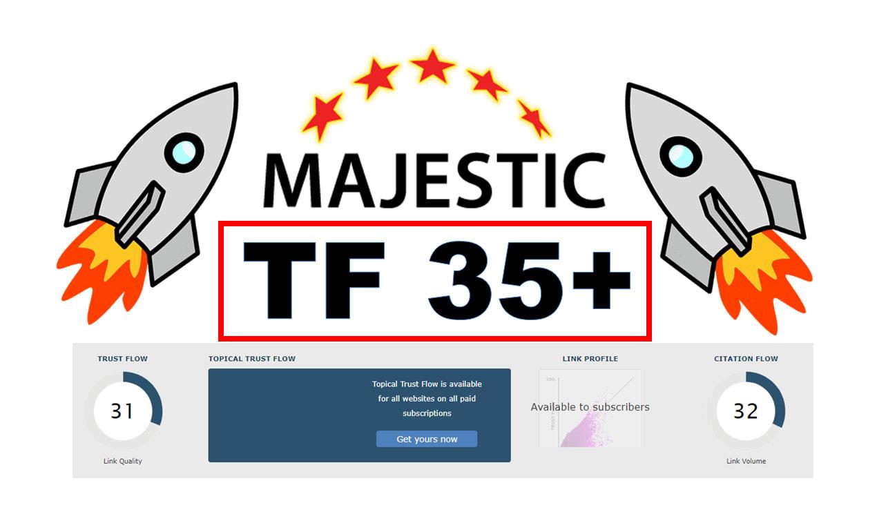 Increase majestic trust flow tf35 plus Guaranteed