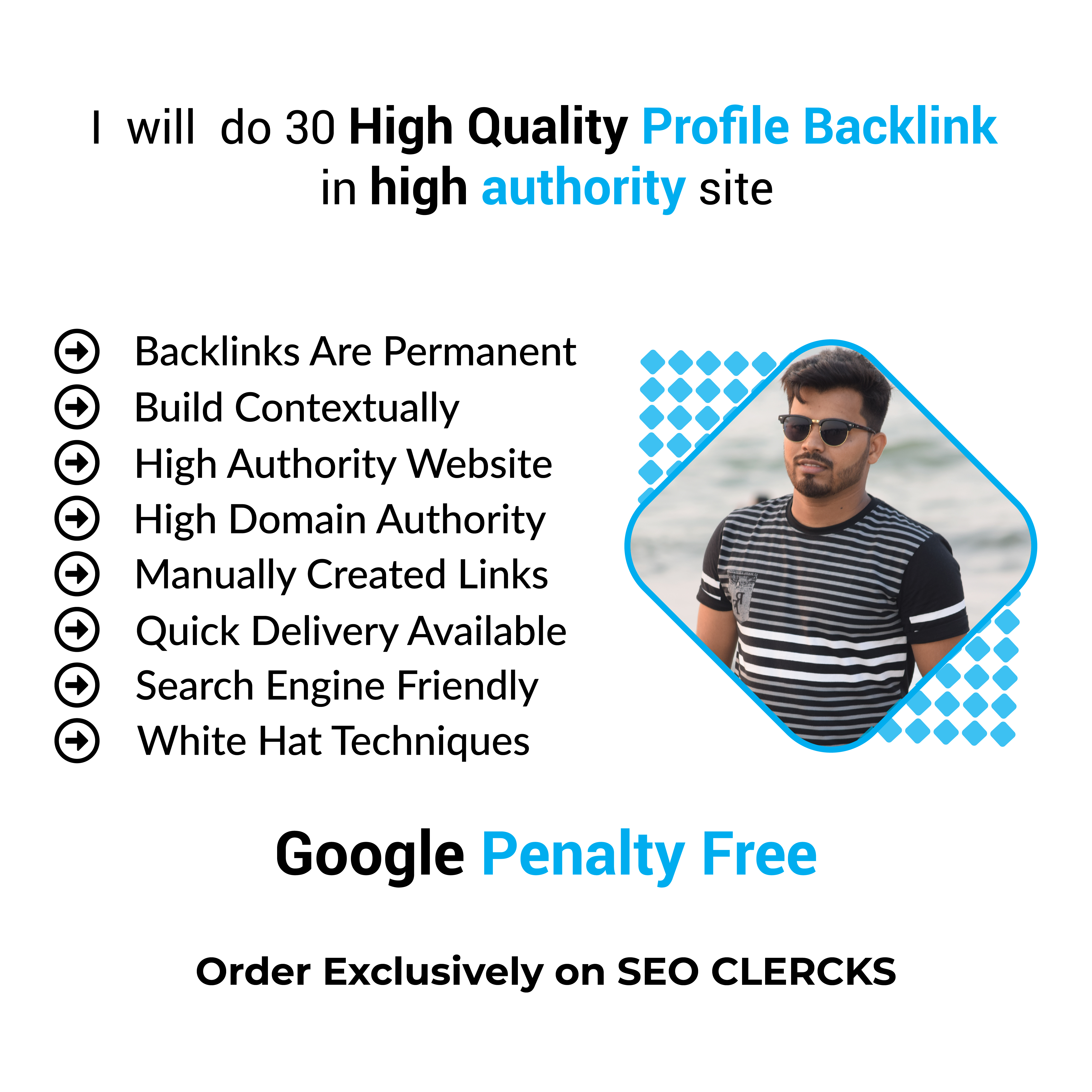 I will do 30 High Quality Profile Backlink in High Authority Site