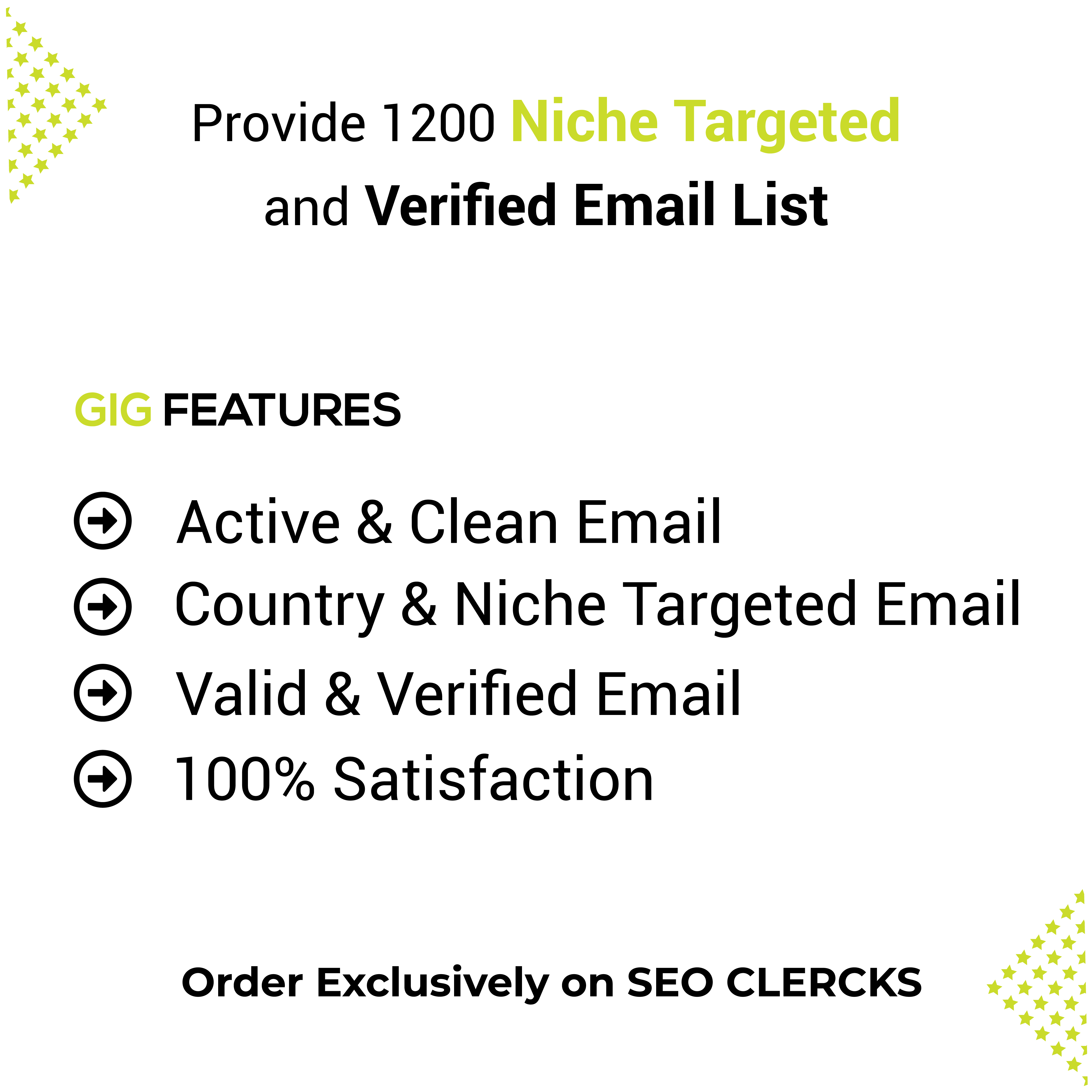 I will collect 1200 verified and niche targeted email list