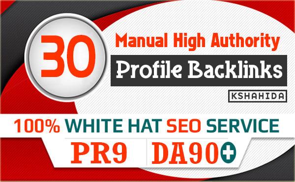 Create 30 High Quality Pr9 DA 90+ Web Profile Backlink For Top Ranking On Google