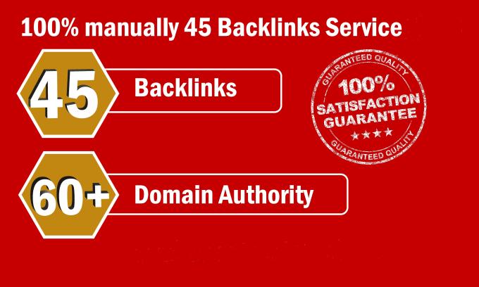 Create 45 High DA Backlink With 10 EDU/GOV Link For Rank Up Your Site On Google