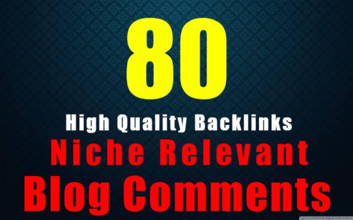 I will provide 80 nichee revelant blog comment backlink