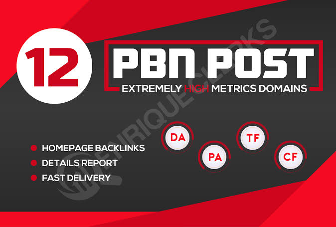 12 high da 30 to 40+ homepage high quality pbn backlinks.