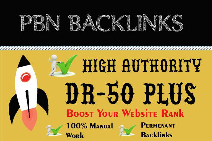 Get 200 High DR 50+ PBNs backlinks