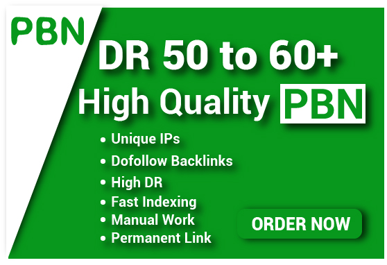 3 DR 50 to 60 permanant homepage high quality pbn backlink