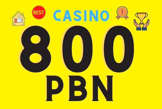 800 Casino web 2.0 PBN backlinks unique 800 sites