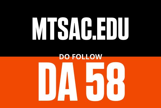 Strong edu guest post from MTSAC edu DA 58