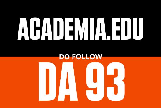 Strong edu guest post from Academia DA 93