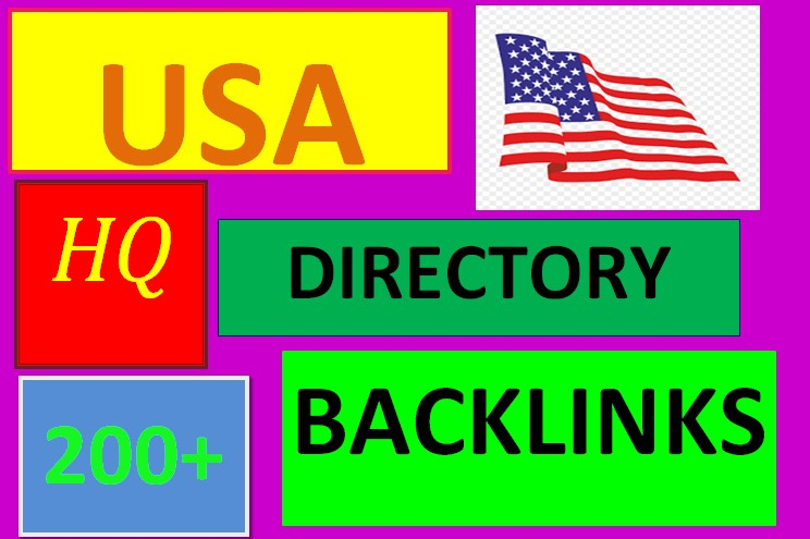 I will create 200+ USA directory submission SEO backlinks