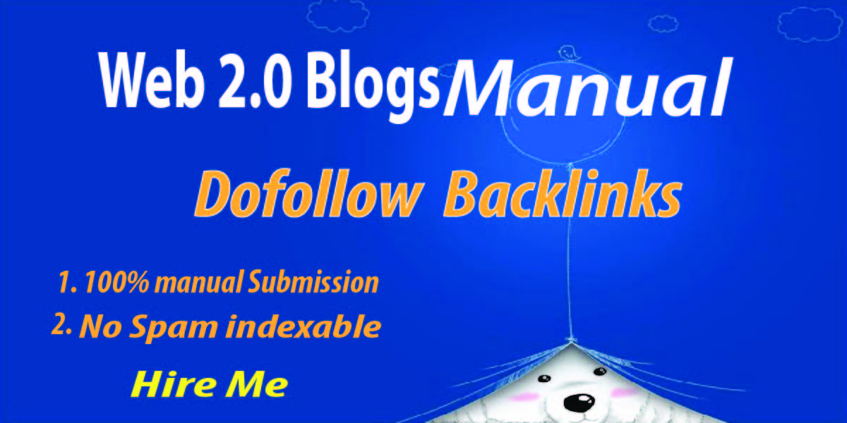 I will 25 High Quality Web 2.0 Dofollow Backlinks