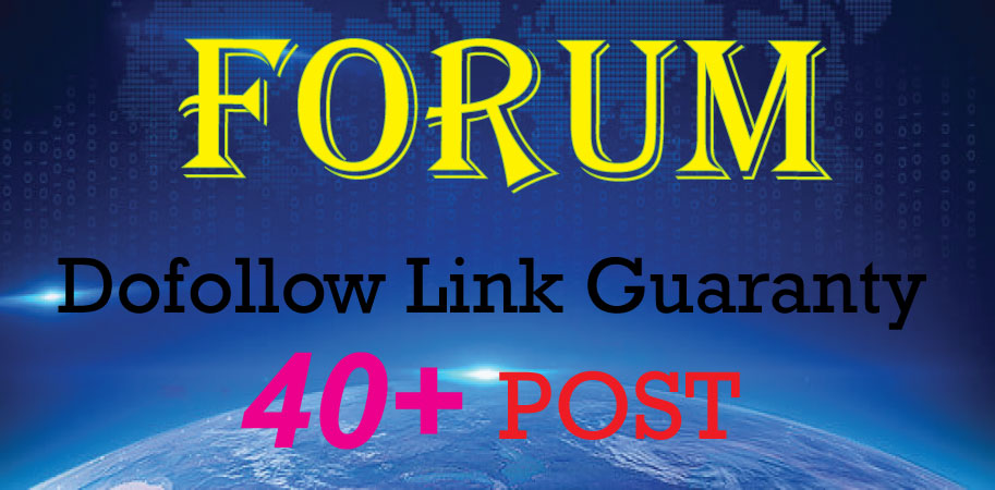 Create Manually 40+ Forum Posting Backlinks DA 50 to 100