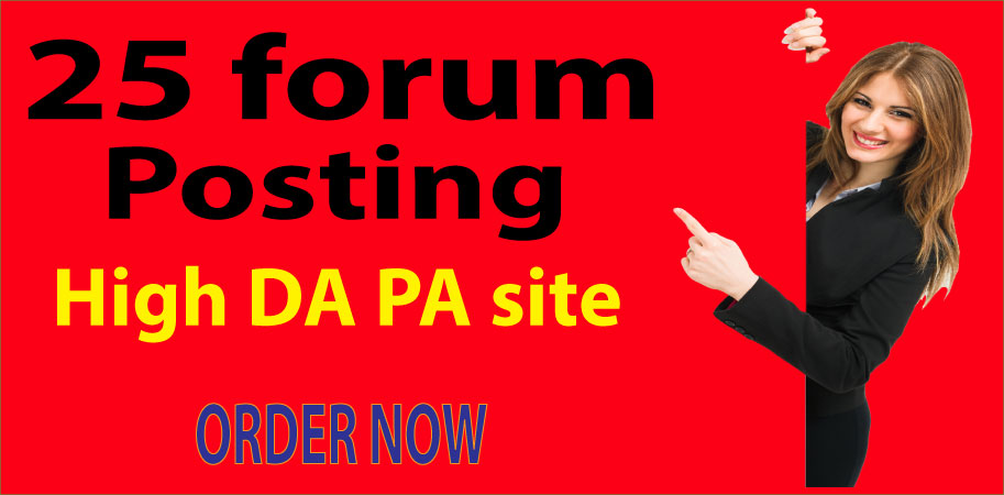 I will Create 25 High-Quality Forum posting