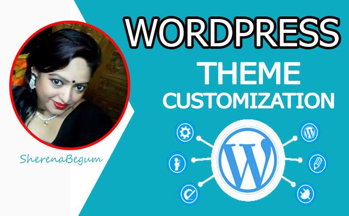 I will do WordPress theme customization
