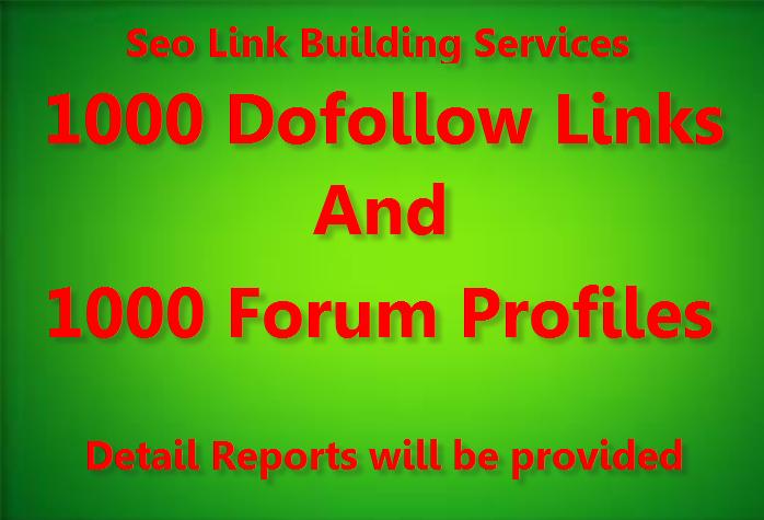 Provide 1000 Do Follow and 1000 Forum profile backlinks