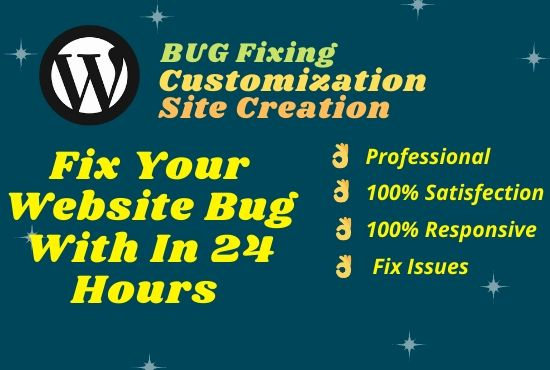 I will fix your wordpress website bugs and issues