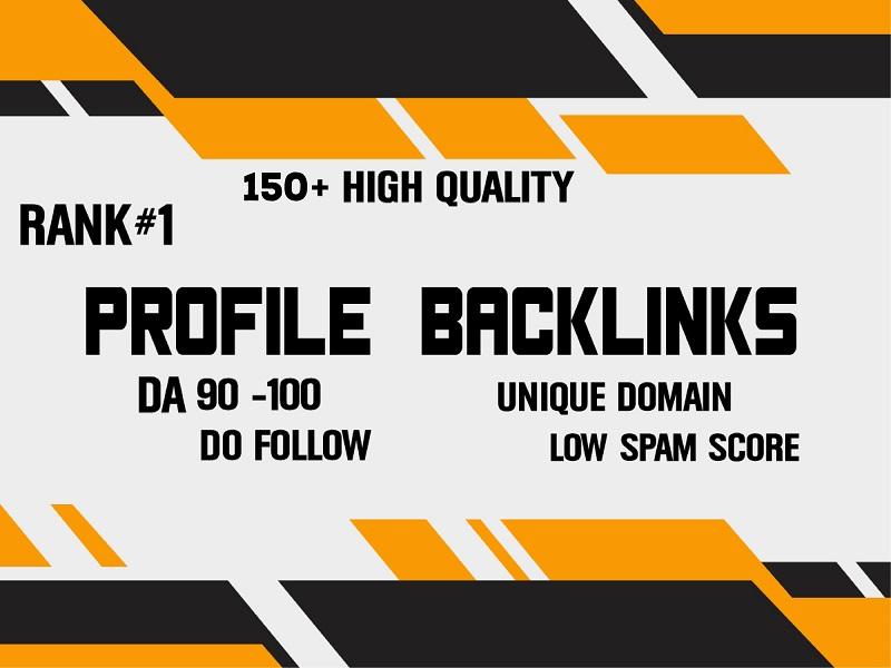 150+ High Domain Authority Do Follow Profile Backlinks