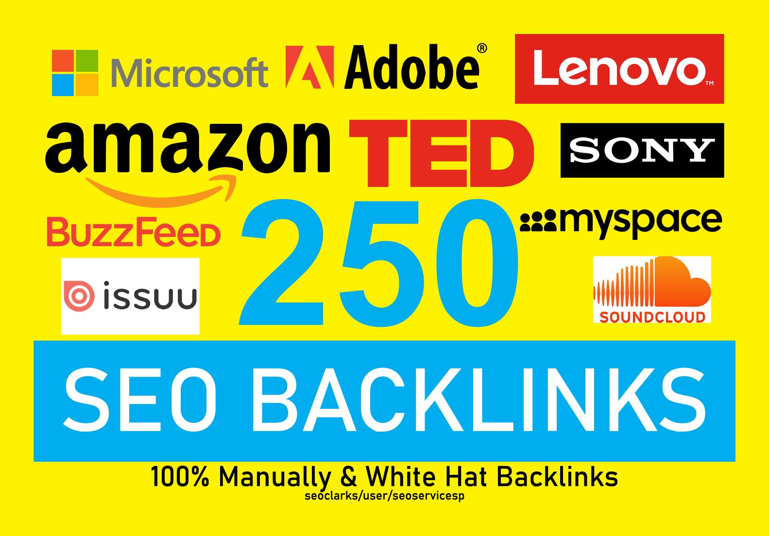I Will Provide 250 Profile Creation High Authority SEO Backlinks