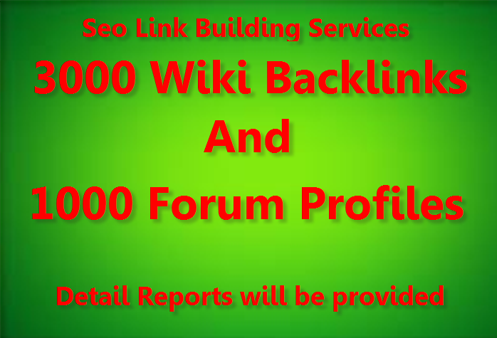 Provide diversify link building 3000 wiki and 1000 Forum profile backlinks