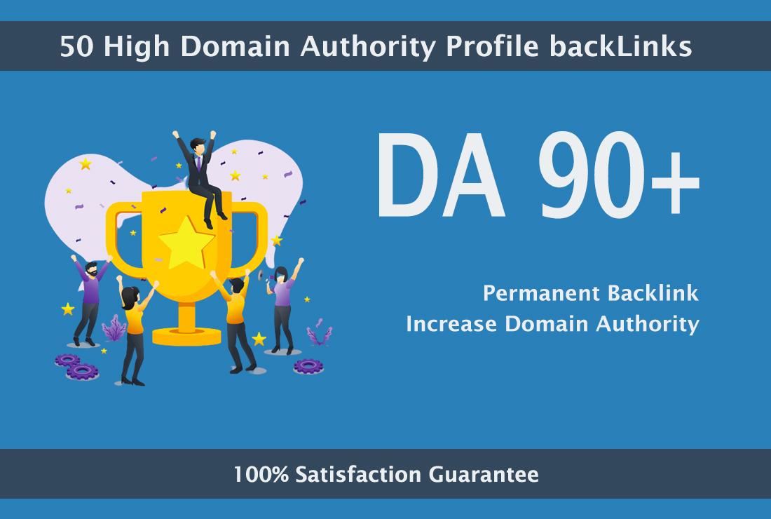 I will create 50 high da profile backlinks manually for SEO ranking