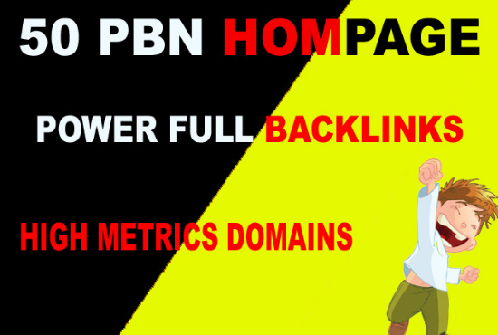 Manually Build 50 PBN High DA/PA 50 site Homepage Backlinks ranking your website on DA25+
