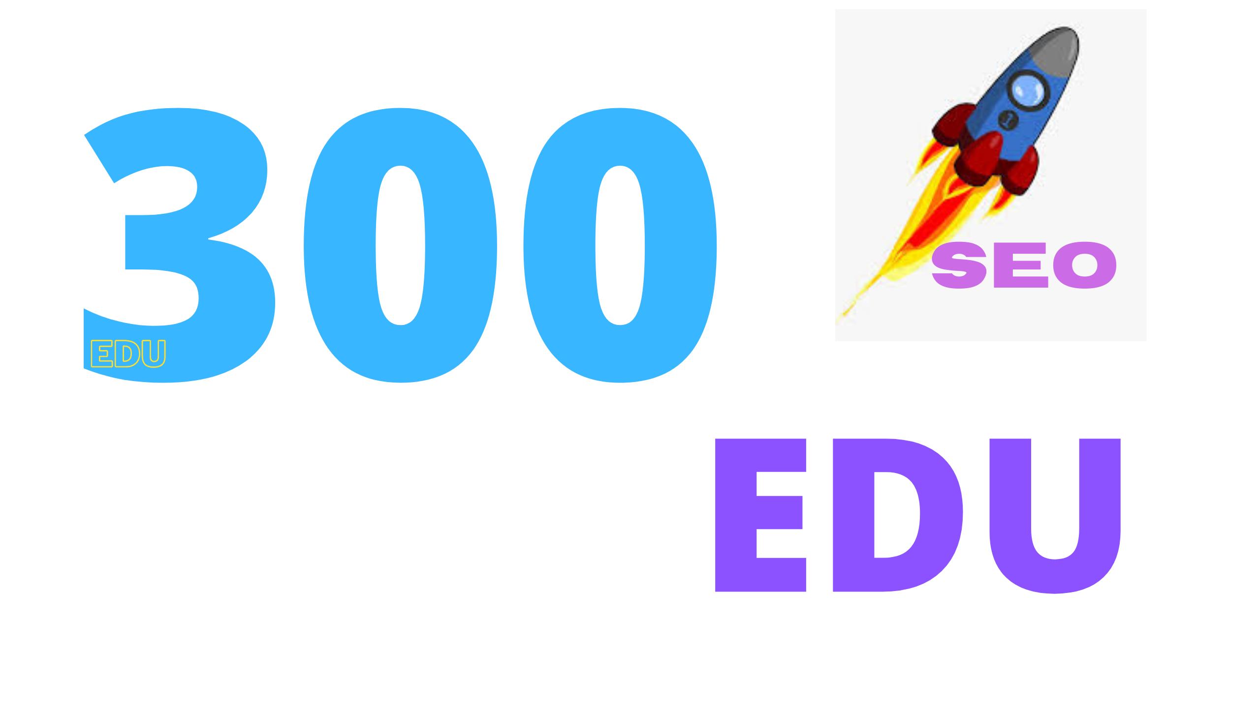 Buy 3 free 1 limited time offer 300 EDU backlinks for your website