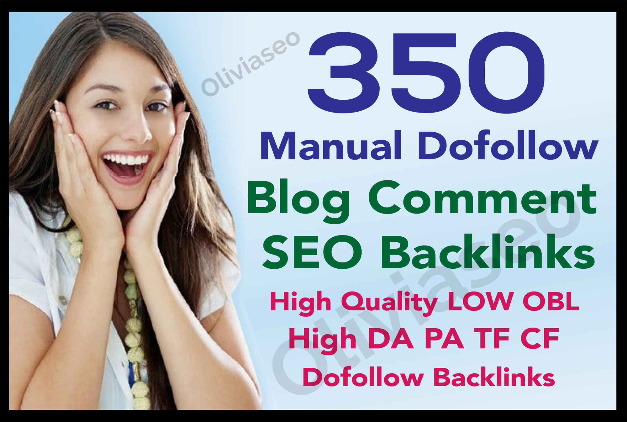 I Will Create 350 Blog Comments manual domain Dofollow Backlinks High Authority