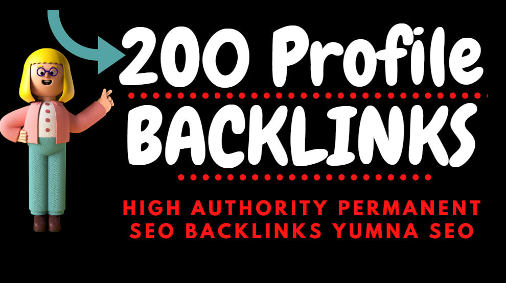 I will create 200 profile backlink da up to 60 plus