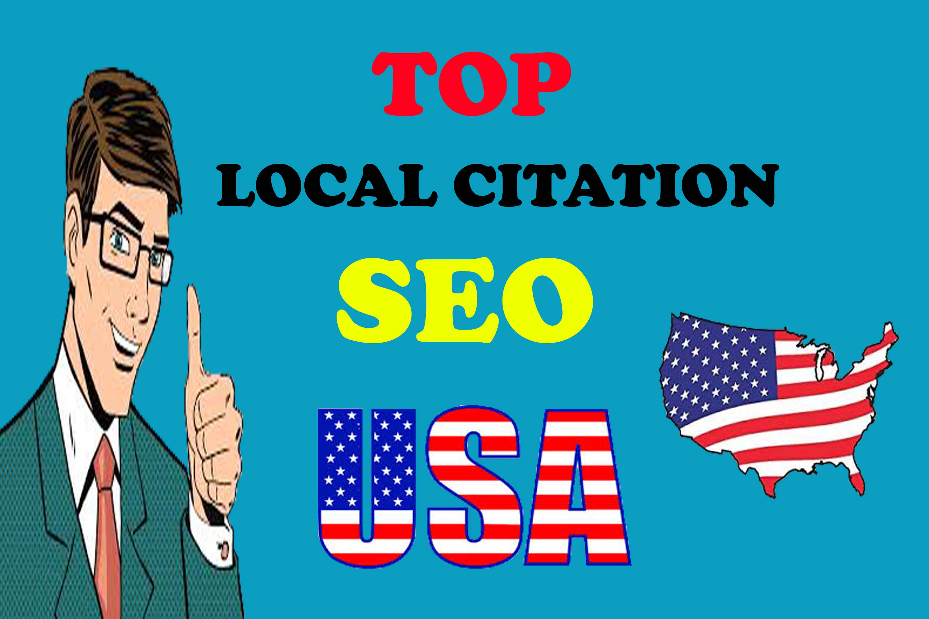 I will create Live Top 30 USA local citation or local SEO,  map listing for your website