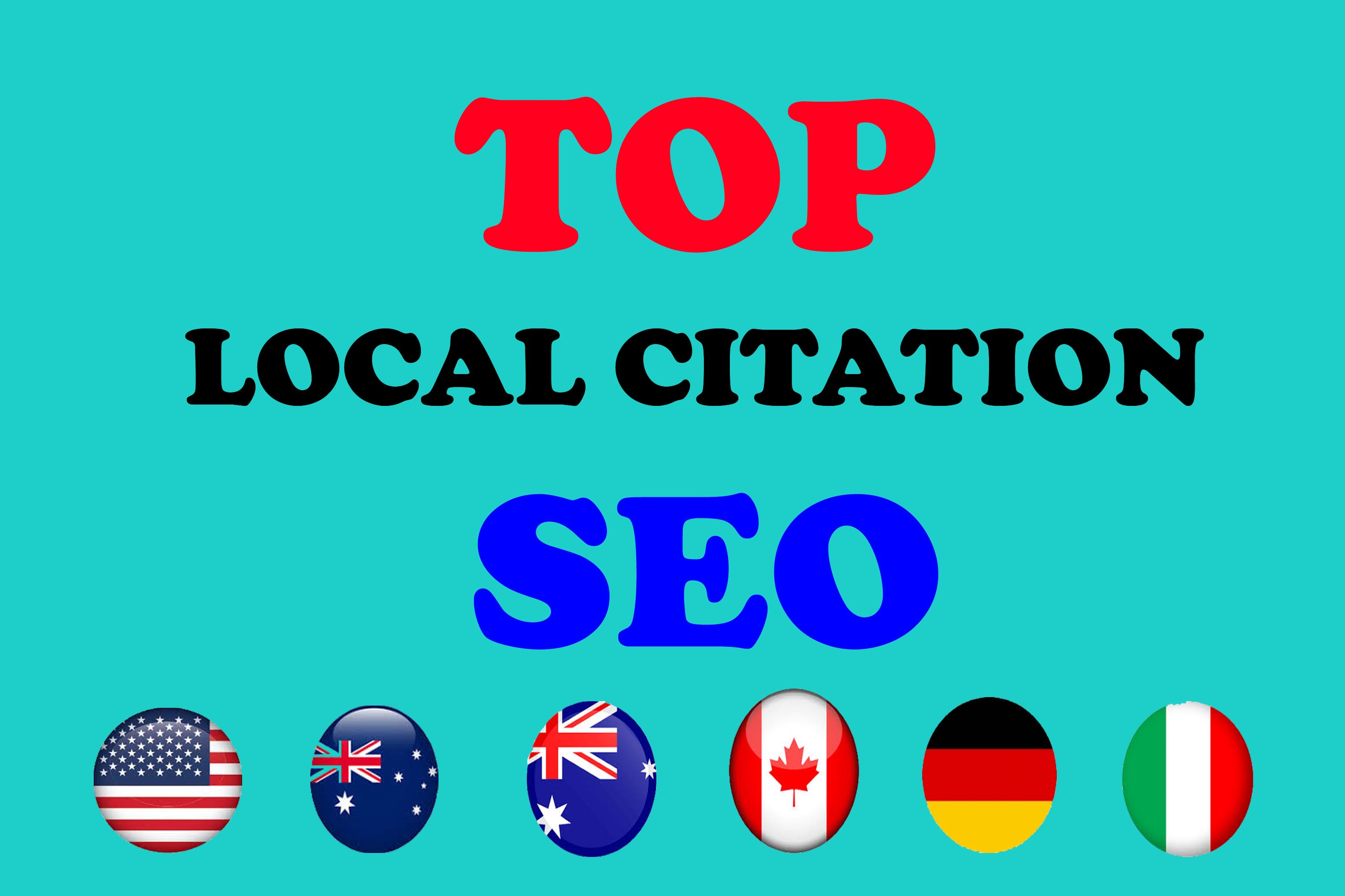 Manually create high quality Top 30 local citation or local SEO listing for your website