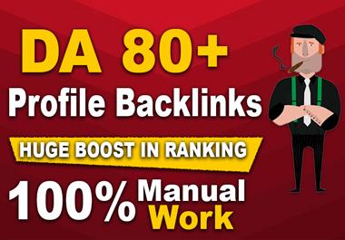 provide white hat manual 25 dofollow profile SEO backlinks with high da