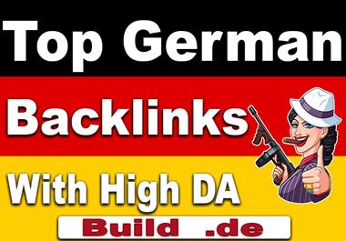do 30 german domain authority SEO backlinks