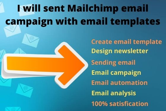 I will send 5000 Mailchimp Email Campaign with email template