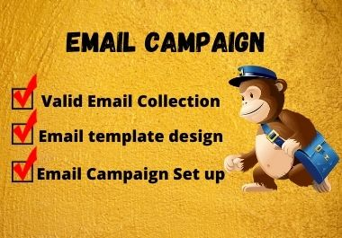 I will collect emails and setup email campaign for you